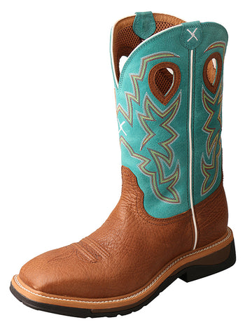 Twisted X Men's Lite Cowboy Workboot Cognac Bull Hide Steel Toe-MLCS020 - Dusty Cowboy