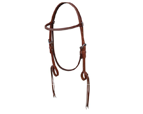 Pineapple Knot Browband Headstall - Dusty Cowboy