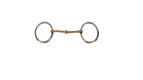 SS Ring Bit w/Twisted Copper Wire Snaffle - Dusty Cowboy