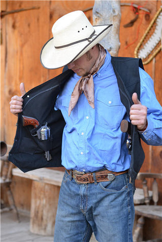 Wyoming Traders Texas Canvas Concealed Carry Vest - Dusty Cowboy