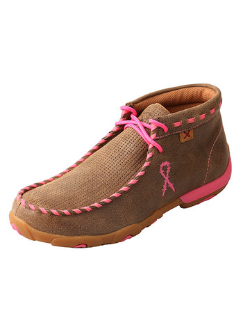 Twisted X Women's Driving Moccasins – Bomber/Neon Pink WDM0051 - Dusty Cowboy