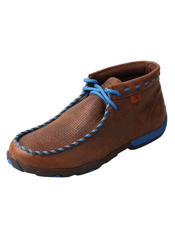 Women's Driving Moccasins – Brown/Blue