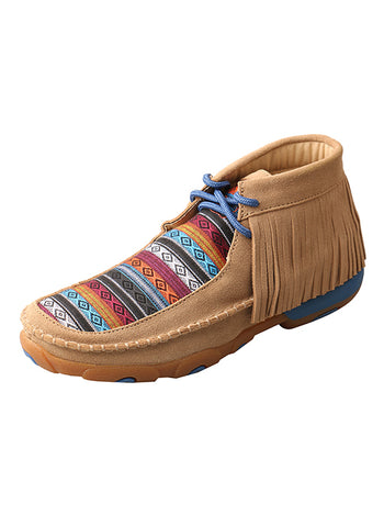 Twisted X Ladies' Driving Mocs with Serape Fringe WDM0064 - Dusty Cowboy