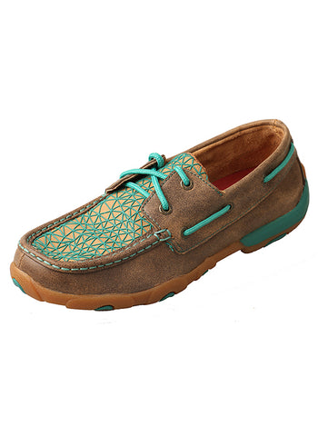 Twisted X Ladies' Driving Mocs Bomber with Turquoise WDM0065 - Dusty Cowboy