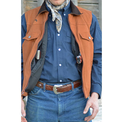 Wyoming Traders Cody Concealed Cary Vest - Dusty Cowboy