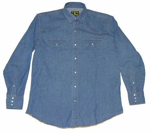 Denim Shirt -Tall - Dusty Cowboy