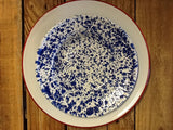 Baked Enamel raised Salad or Dessert Plate - Dusty Cowboy