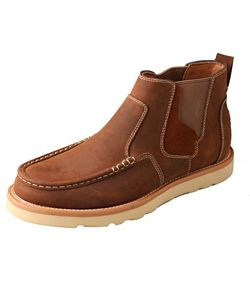 Men's Twisted X Oiled Saddle Pull On Wedge - Dusty Cowboy