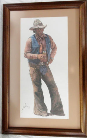 "Vintage ""Ain't No City Beer"" Gordon Snidow Coors Cowboy - Dusty Cowboy"