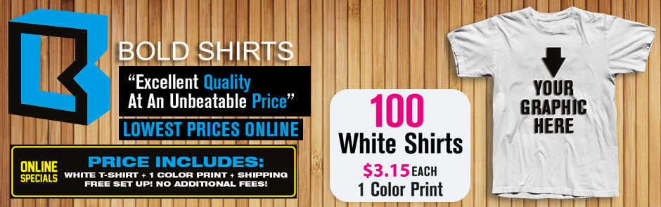 Bold Shirts Online Special