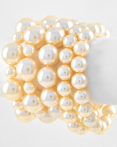 5 Strand Stackable Pearl Braclets
