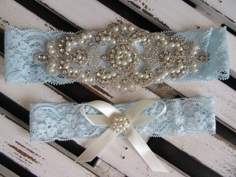 Bridal Garter Style: Something Blue (Set)