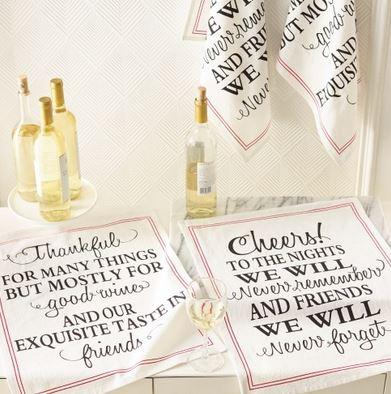 Flour Sack Printed Kitchen Towel - Thankful