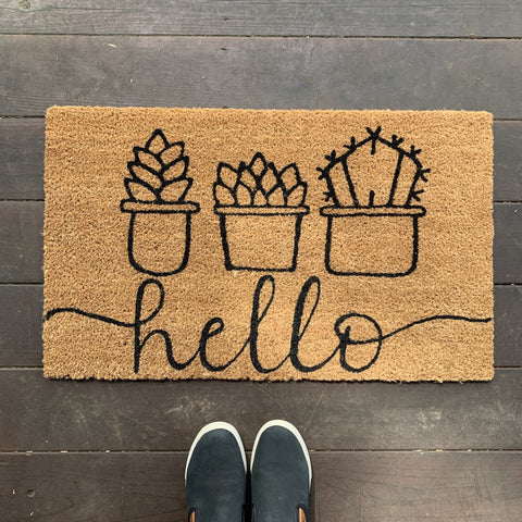 DIY Doormat Painting Kit - Succulent