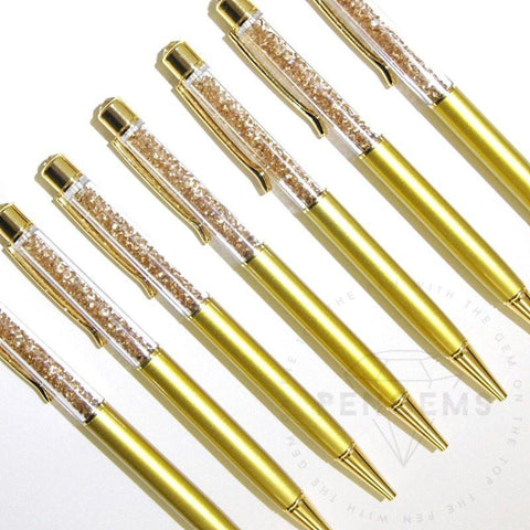 Gold Autograph Crystal Pen by PenGems