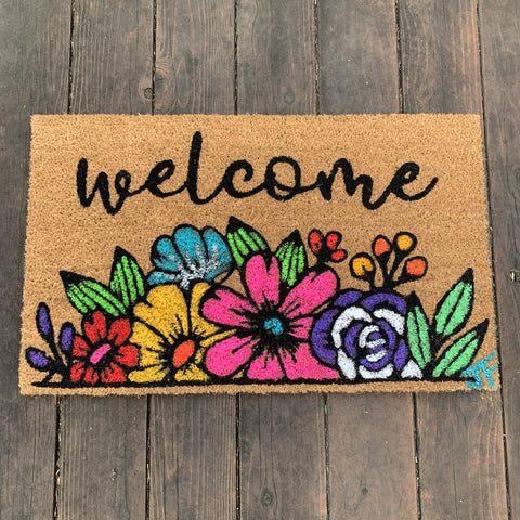 DIY Doormat Painting Kit - Floral