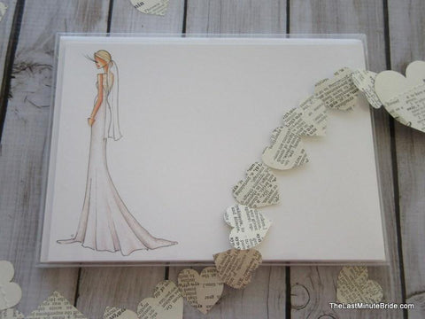 "Bride Notecard ""Karly"" - Boxed Set"