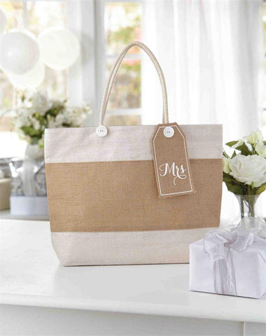 Mrs Burlap Tote Bag