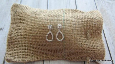 Cubic Zirconia Tear Drop Earrings - 929414