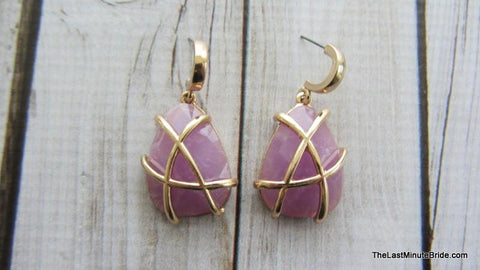 Tear Drop Cage Earrings