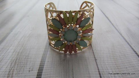 Multi Colored Floral Cuff