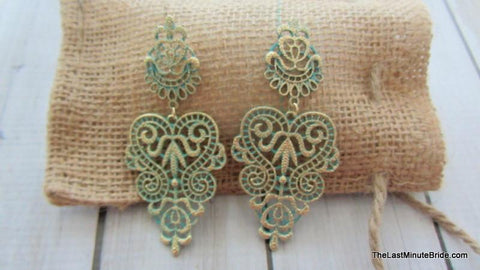 Patina Metal Earrings