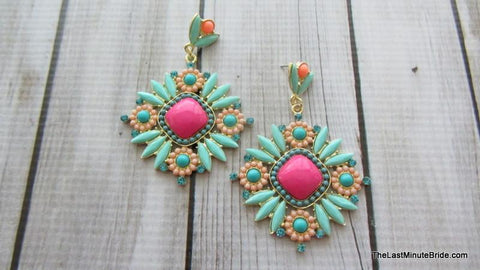 Spring Burst Drop Earrings