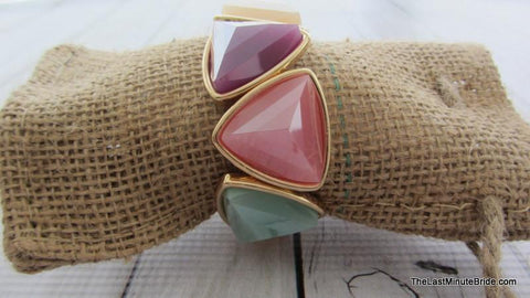Pastel Multi Colored Stretch Bracelet