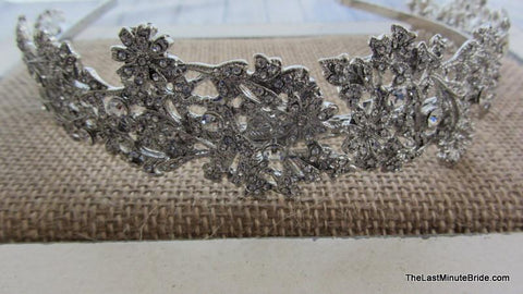 "1 1/2"" Wide Rhinestone Covered Headband"