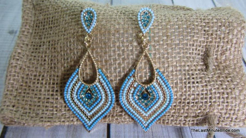 Ombre Beaded Earrings