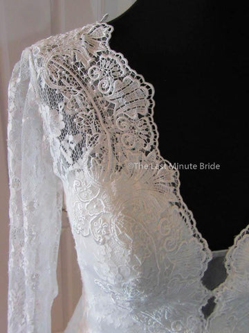 Sheer/ Illusion / Lace Wedding Dress