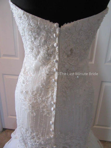 Mid Back Wedding Dress