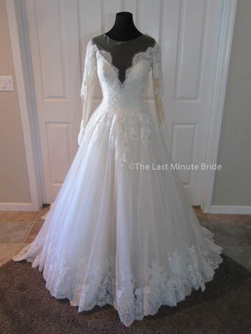 Allure bridals the last minute bride for Allure long sleeve wedding dress