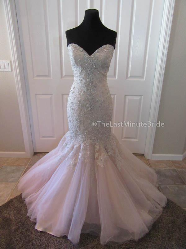 Allure Bridal Lace Wedding Dress with Crystal