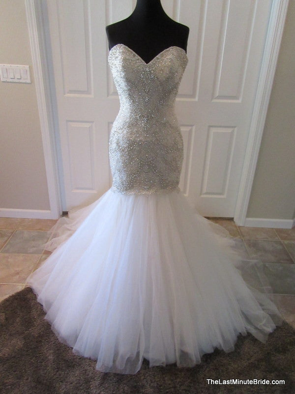 Allure bridals c362 the last minute bride for Fully beaded wedding dresses