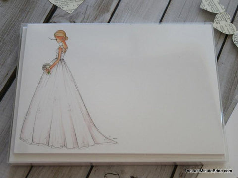 "Bride Notecard ""Amber"" - Boxed Set"