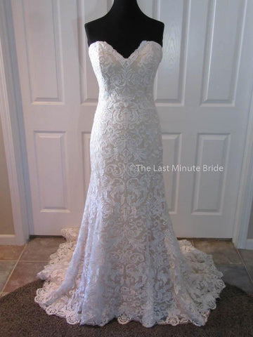 100% Authentic Ashley & Justin Style 10418 Wedding Dress