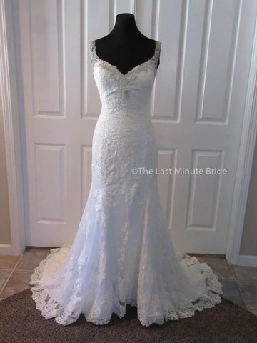 100% Authentic Ashley & Justin Style 10522 Wedding Dress from The Last Minute Bride.