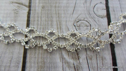 Clear Rhinestone Lattice Pattern Headband