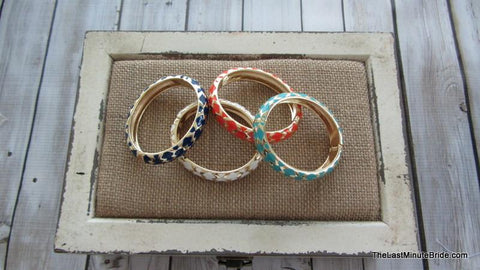 Geometric Foldover Clasp Bracelet (more colors)