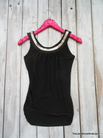 Black Embellished Tank (S - Lg available)