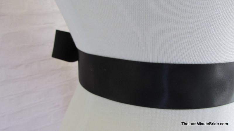 ffb4fcb4a449 Black Satin Ribbon Sash - The Last Minute Bride