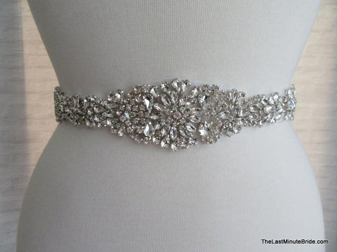 "Rhinestone Beaded Belt Style: Paris 18"" Long"