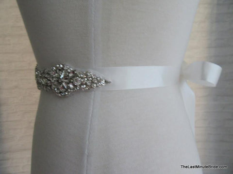 "Rhinestone Beaded Belt Style: Paris 13.5"" long (more colors)"