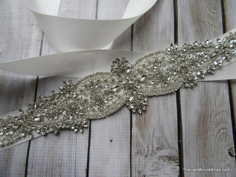 Rhinestone Bridal Belt Style: Madrid