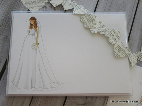 "Bride Notecard ""Carrie"" - Boxed Set"