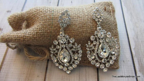 Rhinestone Dangle Earrings (more colors)
