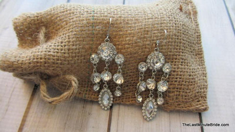 Triple Strand Chandelier Earrings