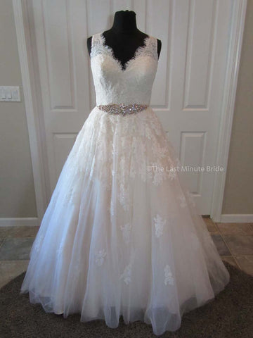 Made to Order lace a-line wedding dress