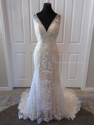 Ivory and Light Gold made to order wedding dresses
